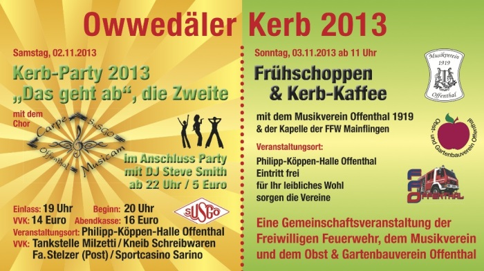 Flyer Kerb 2013
